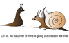 Cartoon: Daughter (small) by Alexei Talimonov tagged father,daughter,snails