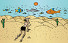 Cartoon: Desert Fish (small) by Alexei Talimonov tagged desert fish