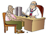 Cartoon: Doctor and Patient (small) by Alexei Talimonov tagged doctor,paitient