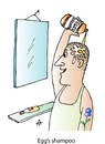 Cartoon: Eggs Shampoo (small) by Alexei Talimonov tagged eggs,shampoo