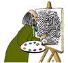 Cartoon: Fingerprint Artist (small) by Alexei Talimonov tagged fingerprint artist
