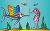 Cartoon: Fish-Taxi (small) by Alexei Talimonov tagged fish,taxi