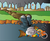 Cartoon: Fish and H2O (small) by Alexei Talimonov tagged fish,water,h2o