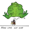 Cartoon: Frog (small) by Alexei Talimonov tagged frog,love,war