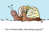 Cartoon: From India (small) by Alexei Talimonov tagged snails,india