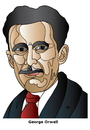 Cartoon: George Orwell (small) by Alexei Talimonov tagged orwell