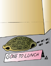 Cartoon: Gone To Lunch (small) by Alexei Talimonov tagged turtle,lunch