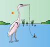 Cartoon: Heron (small) by Alexei Talimonov tagged heron