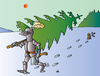 Cartoon: Knight and Xmas tree (small) by Alexei Talimonov tagged knight,xmas