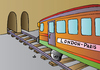 Cartoon: London-Paris (small) by Alexei Talimonov tagged train,london,paris