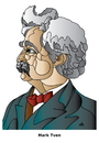 Cartoon: Mark Twain (small) by Alexei Talimonov tagged twain