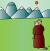 Cartoon: Monk (small) by Alexei Talimonov tagged monk