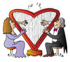 Cartoon: Music of Love (small) by Alexei Talimonov tagged music love