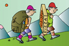 Cartoon: Pizza and tourist (small) by Alexei Talimonov tagged pizza,tourist