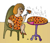 Cartoon: Pizza woman (small) by Alexei Talimonov tagged pizza