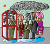 Cartoon: Smoking (small) by Alexei Talimonov tagged rain smoking telephone