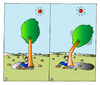 Cartoon: Tree (small) by Alexei Talimonov tagged trees