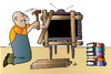 Cartoon: TV Man and Book (small) by Alexei Talimonov tagged man,book,tv
