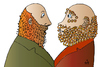 Cartoon: Two Men (small) by Alexei Talimonov tagged piercing
