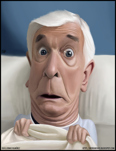 Cartoon: Leslie Nielsen caricature (medium) by GRamirez tagged leslie,nielsen,caricature,caricatura,guillermo,ramirez