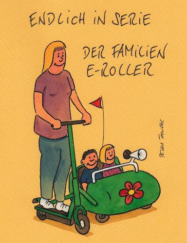 Cartoon: familien e roller (medium) by Peter Thulke tagged roller,roller