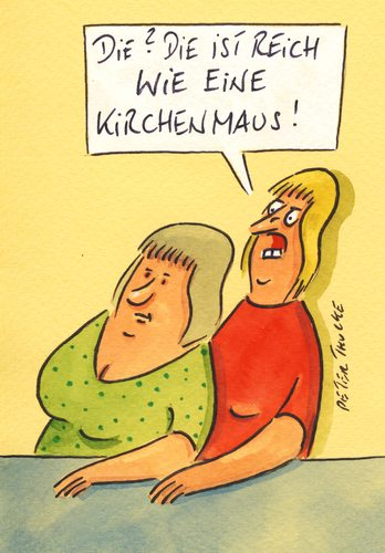 Cartoon: kirche (medium) by Peter Thulke tagged kirche,geld,kirche,geld