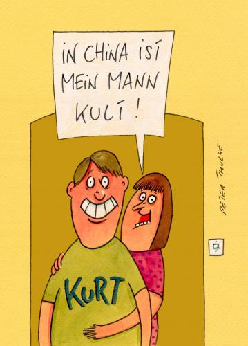 Cartoon: kult (medium) by Peter Thulke tagged china