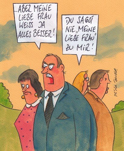 Cartoon: liebe frau (medium) by Peter Thulke tagged ehe,ehe