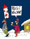 Cartoon: prosit (small) by Peter Thulke tagged silvester