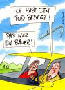 Cartoon: tod besiegt (small) by Peter Thulke tagged tod,auto,unfall