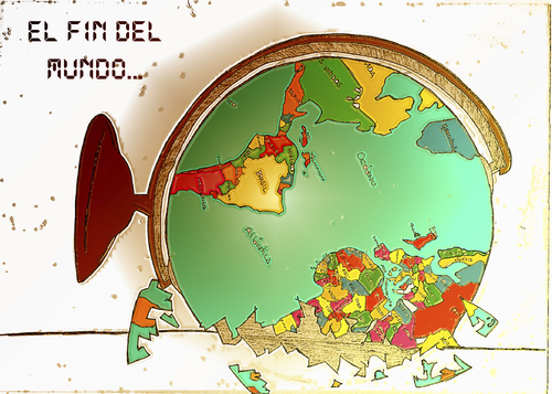 Cartoon: El fin del mundo (medium) by apestososa tagged mundo,fin