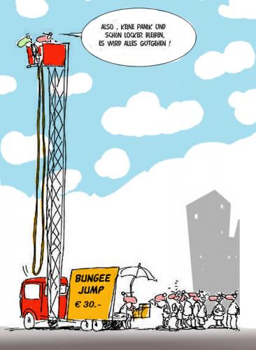 Cartoon: Bungee-jump (medium) by cartoonage tagged extreme,sports,fun,spaß,
