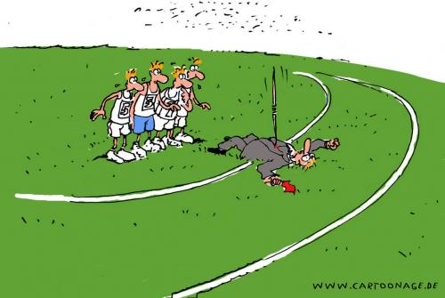 Cartoon: Speerwurf (medium) by cartoonage tagged sport,