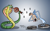Cartoon: Indian economy (small) by mangalbibhuti tagged manmohansing,mangalbibhuti,cartoon,india,snake,charmer,bean,indiancartoon,upa,congress,economy,finance