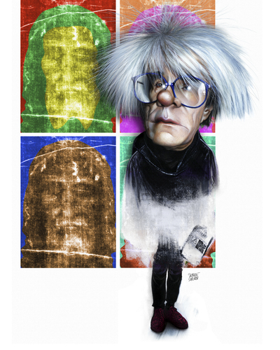 Cartoon: Andy Warhol (medium) by achille tagged andy,warhol