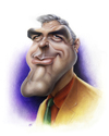 Cartoon: George Clooney (small) by achille tagged george,clooney