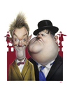 Cartoon: Laurel and Hardy (small) by achille tagged laurel,and,hardy