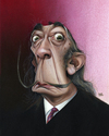 Cartoon: Salvador Dali (small) by achille tagged salvador,dali