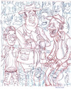 Cartoon: Crowd Sketch (small) by Cartoons and Illustrations by Jim McDermott tagged sketchbook people crowd