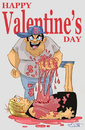 Cartoon: Happy Valentines Day (small) by Cartoons and Illustrations by Jim McDermott tagged happyvalentinesday,love,heart,holidays
