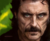 Cartoon: Ian Mcshane (small) by Cartoons and Illustrations by Jim McDermott tagged americanhorrorstoryasylum,actor,horror