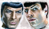 Cartoon: Spock and Spock (small) by Cartoons and Illustrations by Jim McDermott tagged startrek,spock