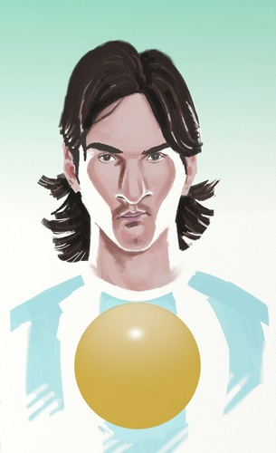 Cartoon: Messi (medium) by sanjuan tagged messi,lionel,argentina,futbol,sports