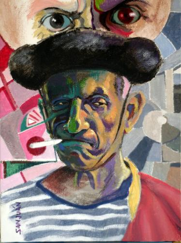 Cartoon: Pablo Picasso (medium) by sanjuan tagged picasso,art,popular