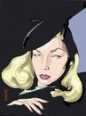 Cartoon: Lauren Bacall (small) by sanjuan tagged lauren,bacall,girl,sexy