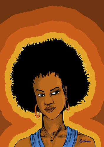 Cartoon: RnB Queen (medium) by sebtahu4 tagged rnb,singer,lauryn,hill