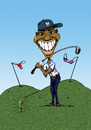 Cartoon: Tiger Woods (small) by sebtahu4 tagged tiger,woods,golf,sex