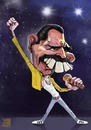 Cartoon: freddie mercury (small) by elidorkruja tagged freddie,mercury