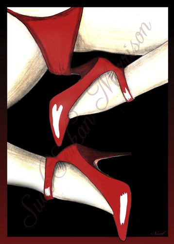 Cartoon: mary jane shoes (medium) by Suat Serkan Celmeli tagged red,shoes