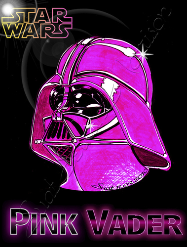 Cartoon: pink vader (medium) by Suat Serkan Celmeli tagged star,wars